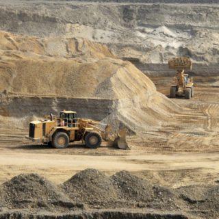 Industrial gravel pit