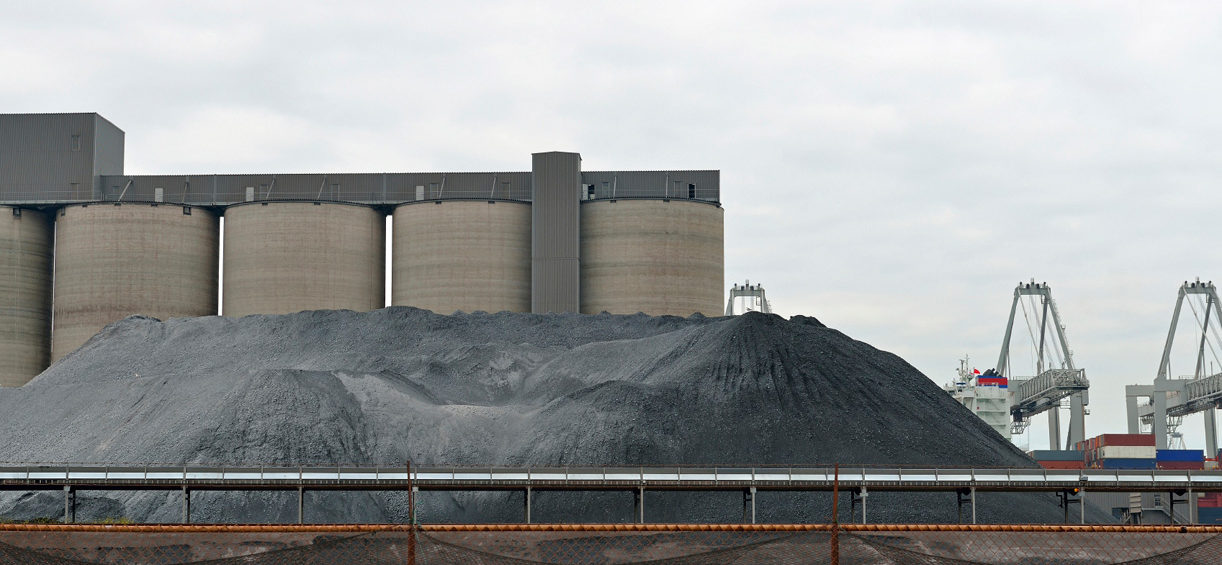 Coal mound