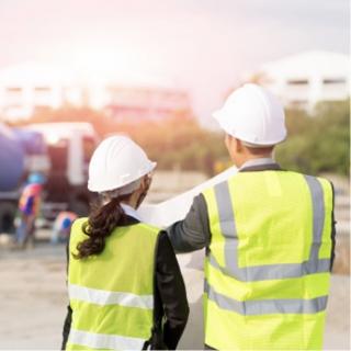 Surveyors at work site